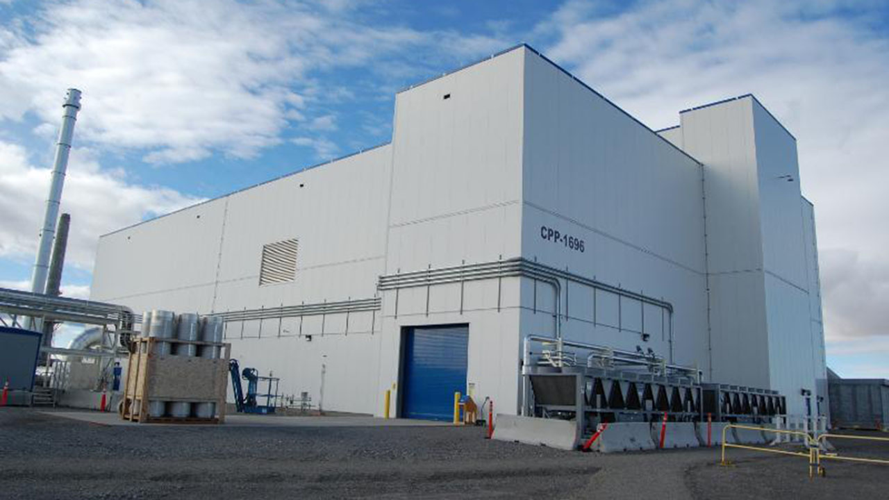 Exterior of the Integrated Waste Treatment Unit