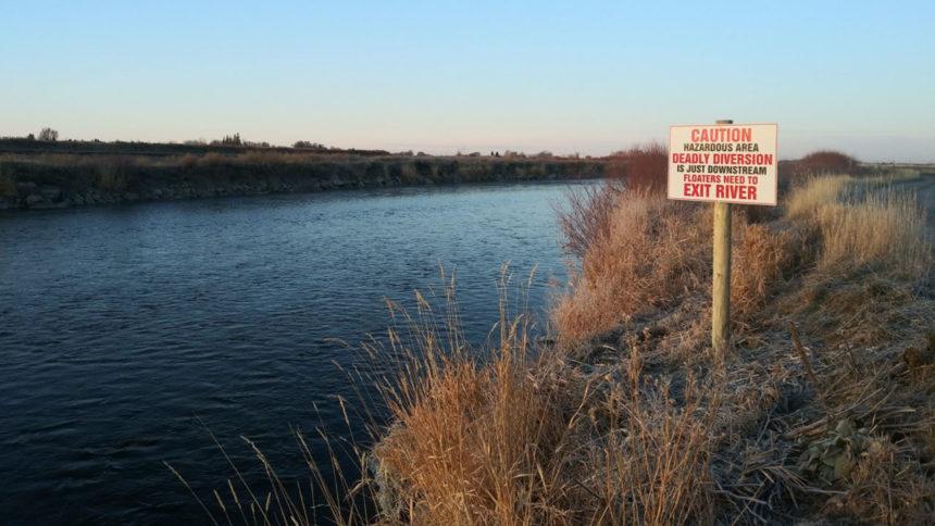 teton splitter warning sign Jenn Vincent Idaho Fish and Game