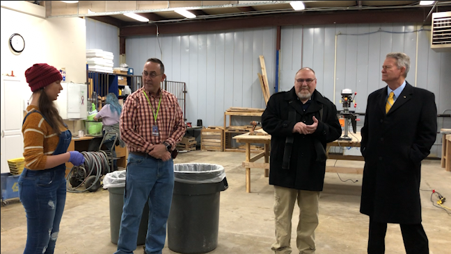 Governor Brad Little made a stop at Bonneville school's district's technical-career high school