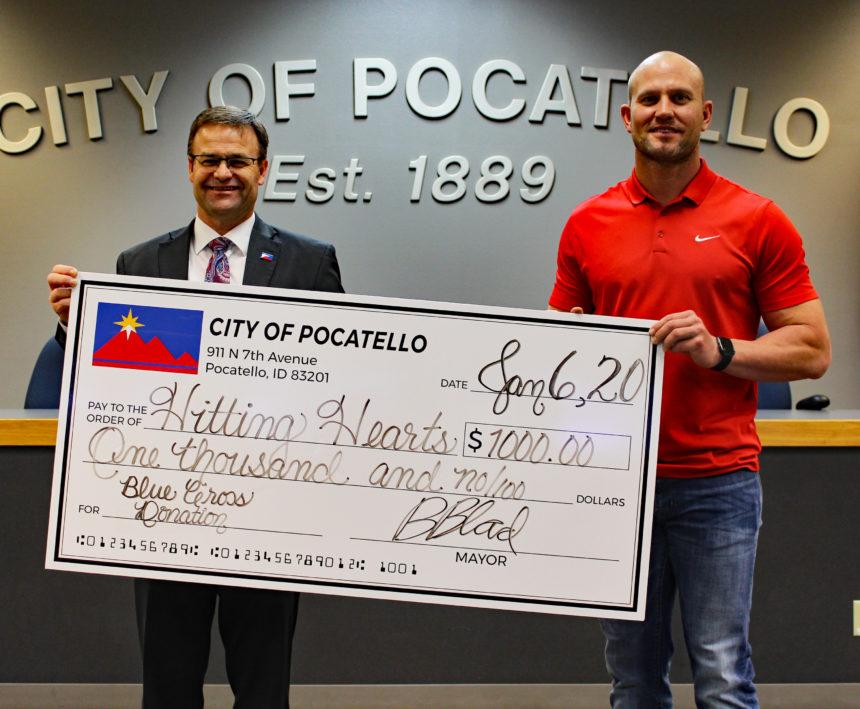 Mayor Blad donation