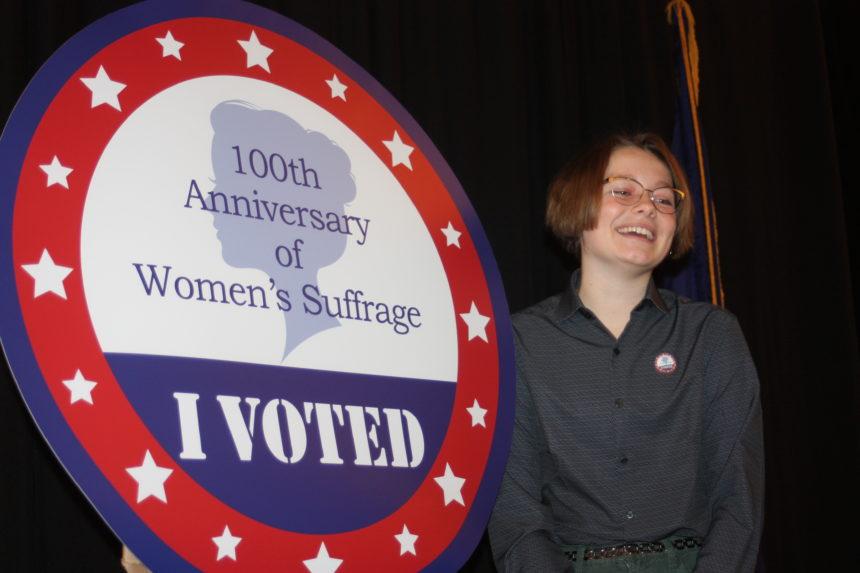 Samantha Robson with winning sticker design