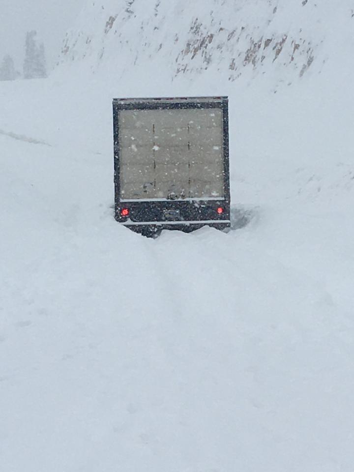 Teton Pass avalanche driver unharmed