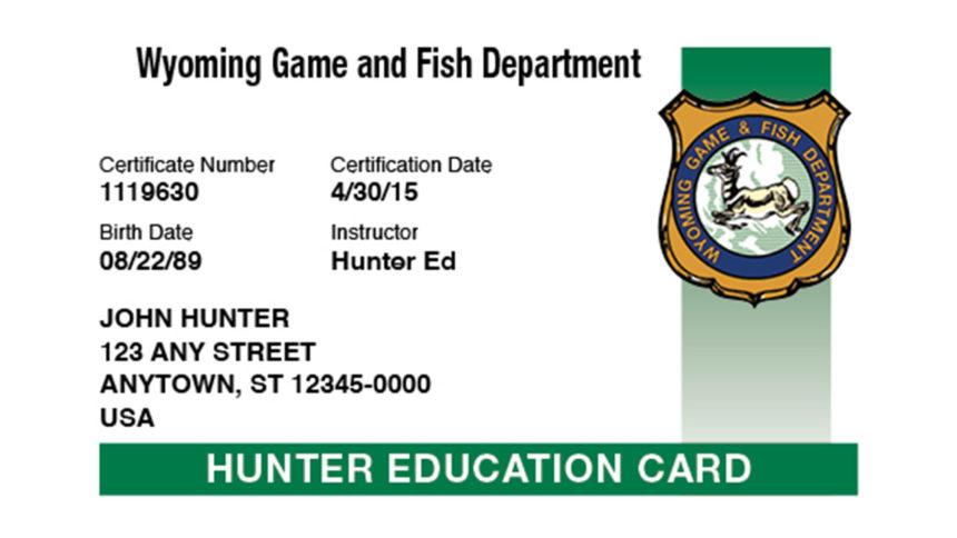 Hunter education card