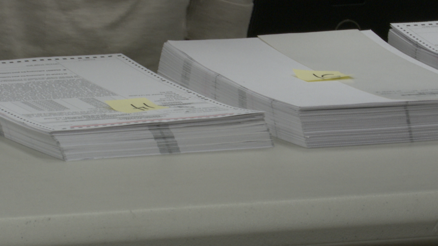 Ballots in the Bannock County Elections Office
