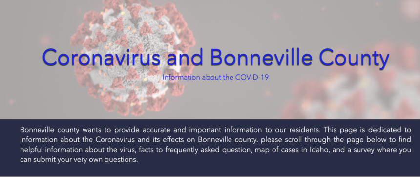 Bonneville County coronavirus website