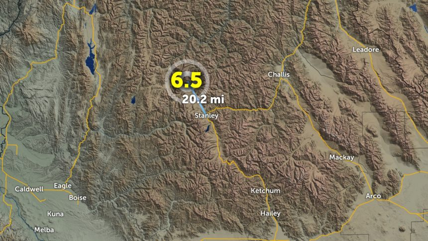 Earthquake north of Stanley