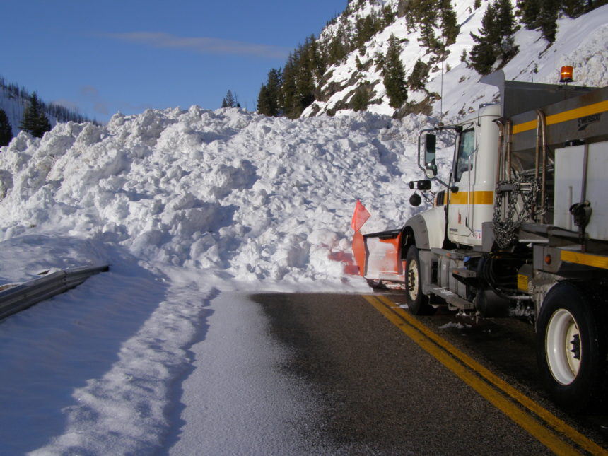 Highway-21-cleanup1_The-crew-from-Stanley-were-greeted-by-this-massive-avalanche-sline-on-Idaho-Highway-21