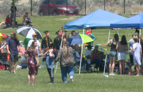 Unofficial graduation draws hundreds to Portneuf Wellness Complex