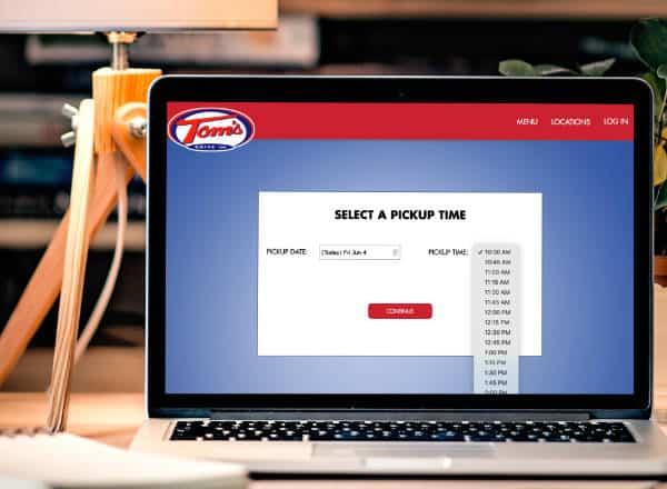 order online date picker