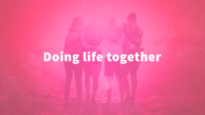 Sermon Graphic on Doing Life Together