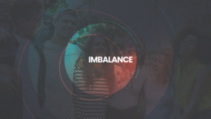 Imbalance sermon banner or art