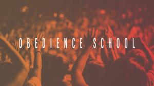 Obedience School sermon series graphic