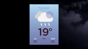 Sermon Graphic on Forecast: Rain