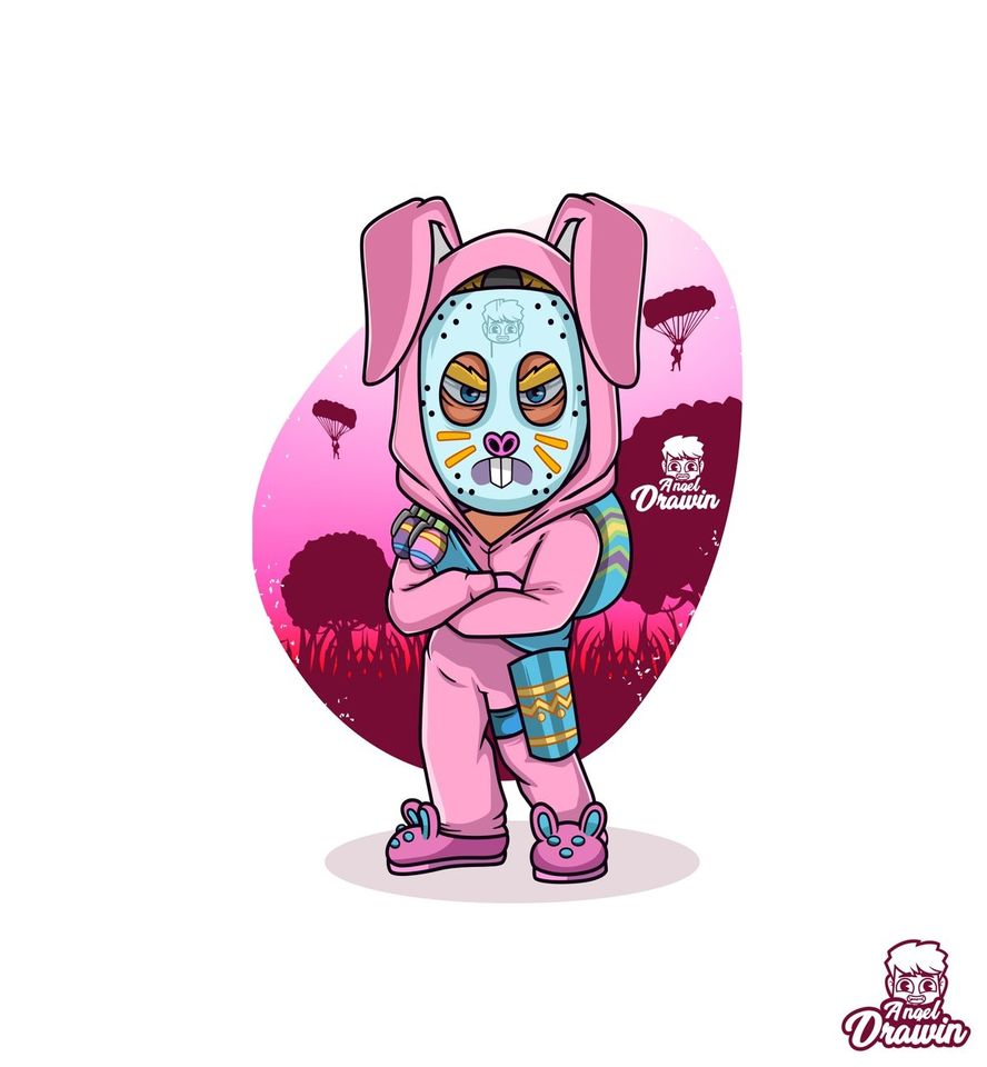 Kawaii Fortnite Skin Banano AngelDrawin On Twitter Rabbit Raider In The House