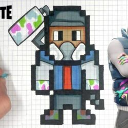 Pixel Art Fortnite Skin Facile Saison 8 TUTO PIXEL ART GRAFFEUR SKIN FORTNITE YouTube