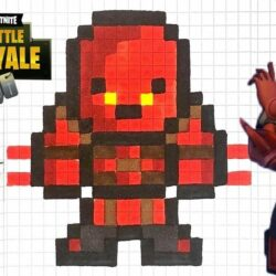 Pixel Art Fortnite Skin Facile Saison 8 TUTO PIXEL ART HYBRID FORTNITE SAISON 8 YouTube
