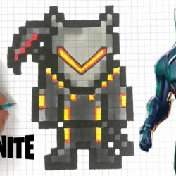 Pixel Art Fortnite Skin Facile Saison 8 TUTO PIXEL ART OMEGA FORTNITE YouTube