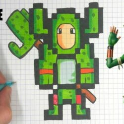 Pixel Art Fortnite Skin Facile Saison 8 TUTO PIXEL ART Skin CACTUS FORTNITE YouTube