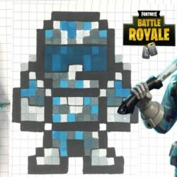 Pixel Art Fortnite Skin Facile Saison 9 COMO DESENHAR CONGELAMENTO PIXEL ART FORTNITE YouTube