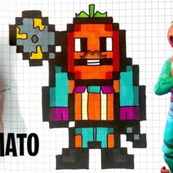 Pixel Art Fortnite Skin Facile Saison 9 COMO DESENHAR TOMATO HEAD PIXEL ART FORTNITE YouTube