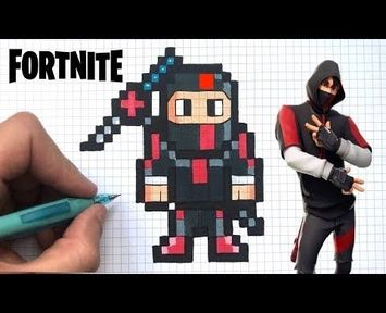 Pixel Art Fortnite Skin Motard Chadessin Pixel Art Fortnite YouTube Pixel Art
