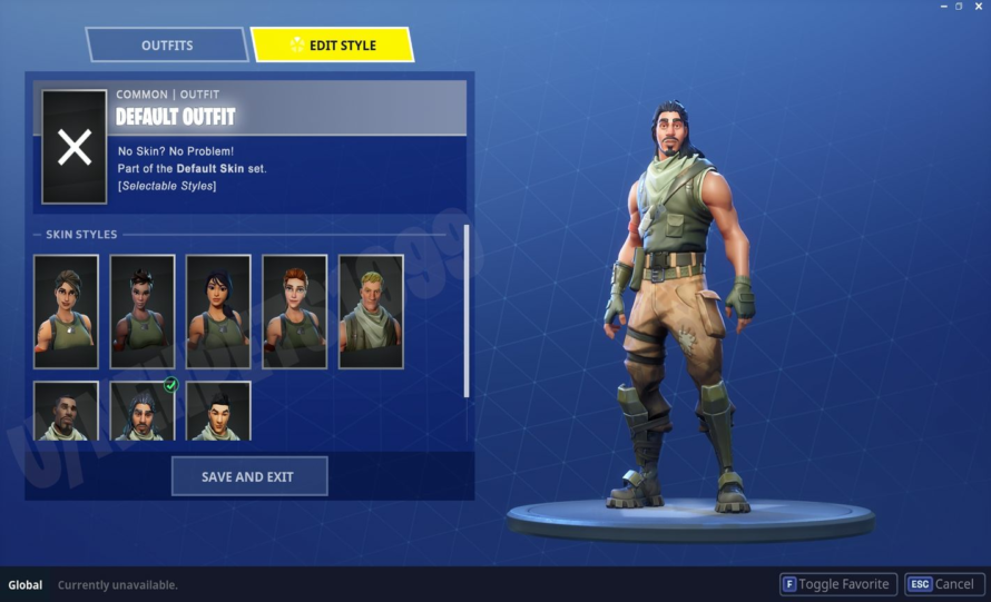 Skin Fortnite De Base Allow Us To Select Which No Skin To Play As With Edit