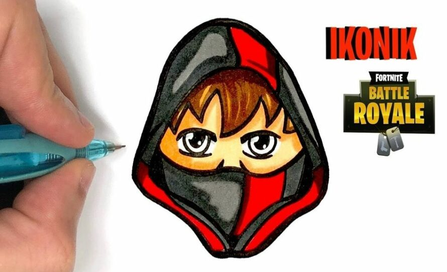 Skin Fortnite Logo Ytb HOW TO DRAW IKONIK SKIN FORTNITE SEASON 8 YouTube