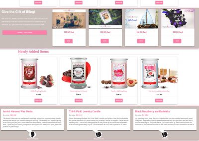 Candles with Bling Website – 2016