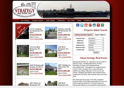 Strategy Real Estate Website – 2012