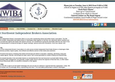 Northwest Independent Brokers Association Website – 2012