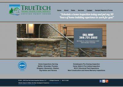 True Tech Home Inspections Website – 2015